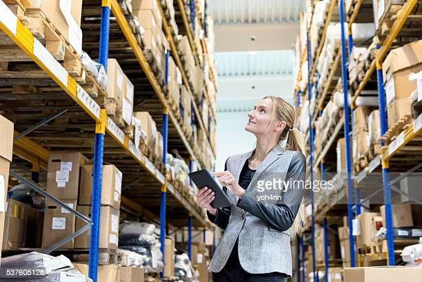 Ordering with digital tablet in warehouse