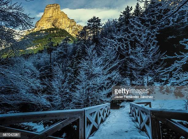 Ordesa National Park in winter. Tozal of Mallo.