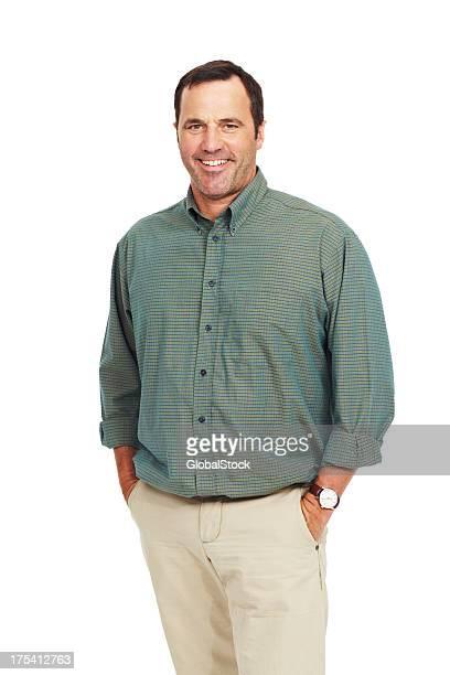 Gewöhnliche guy mit einer bewährten Lächeln