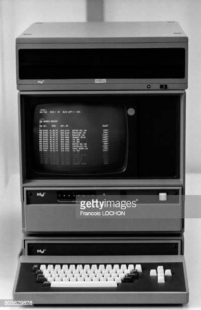 Ordinateur Intel en février 1980 à Paris France