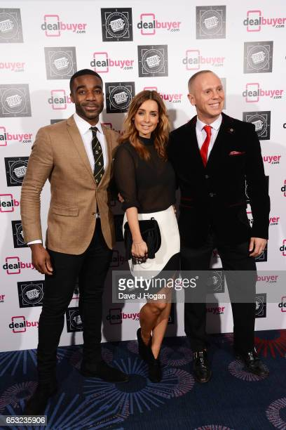 Ore Oduba Louise Redknapp and Judge Rinder attend the TRIC Awards 2017 at The Grosvenor House Hotel on March 14 2017 in London England