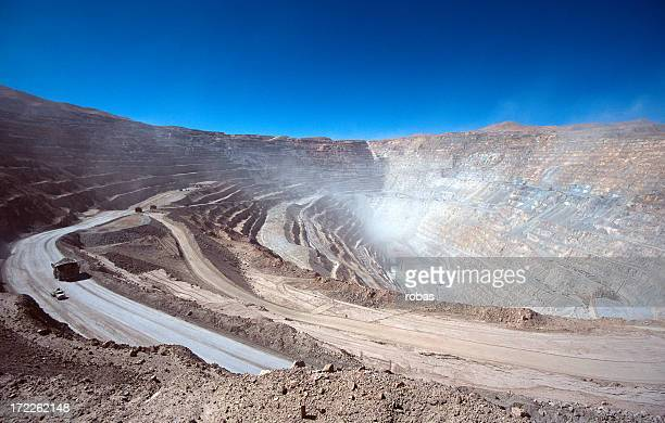 Ore LKWs in einem open-pit mine