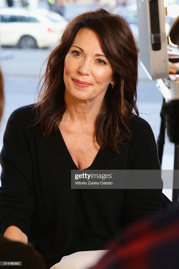 Oreal ambassador Iris Berben is seen during the 66th Berlinale International Film Festival Berlin at the L'Oreal Cocobello styling studio on February...