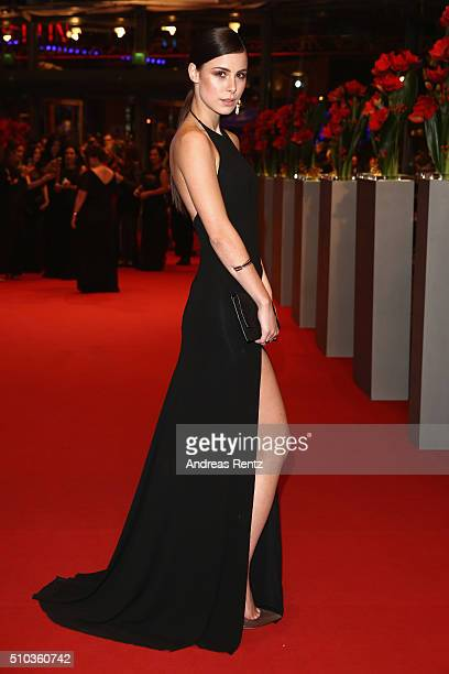 Oreal ambassador Lena MeyerLandrut attends the 'Things to Come' premiere during the 66th Berlinale International Film Festival Berlin at Berlinale...