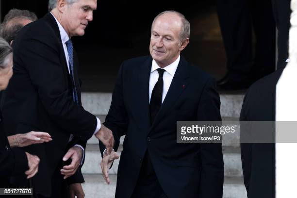 Oreal CEO Jean Paul Agon attends the Liliane Bettencourt's funeral organized at the Saint Pierre Church on September 26 2017 in NeuillysurSeine...