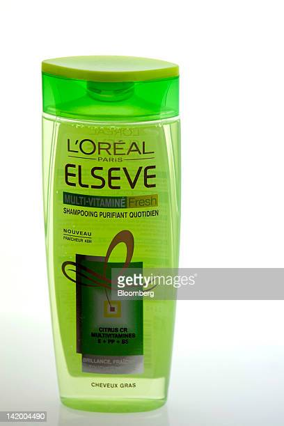 L'Oreal Elseve hair shampoo produced by L'Oreal SA is seen on display at the company's new global hair research center in SaintOuen France on...