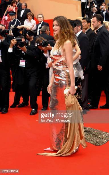 L'Oreal model Laetita Casta arrives for the screening of Bad Education a film by Pedro Almodovar at the Palais de Festival during the 57th Cannes...