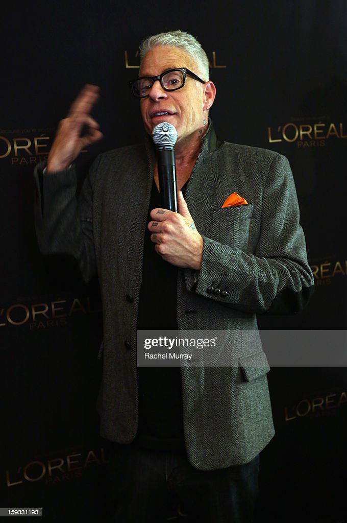 L'Oreal Paris Consulting Make-up Artist Billy B. attends the L'Oreal cocktail party prior to the HBO Luxury Lounge at Four Seasons Hotel Los Angeles at Beverly Hills on January 11, 2013 in Beverly Hills, California.