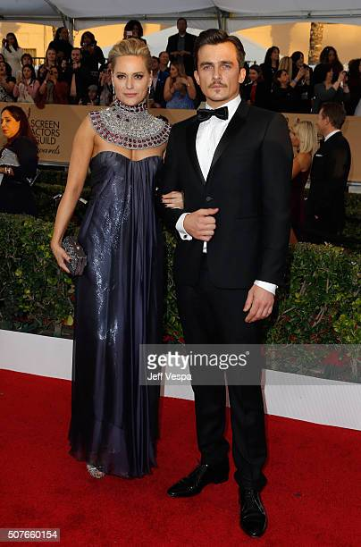 Oreal Paris Spokesperson Aimee Mullins and actor Rupert Friend attend the 22nd Annual Screen Actors Guild Awards at The Shrine Auditorium on January...