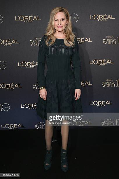 Oreal Paris Spokesperson Aimee Mullins attends the L'Oreal Paris Women of Worth 2015 Celebration Arrivals at The Pierre Hotel on December 1 2015 in...