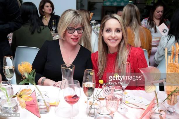 Oreal VP Innovation Rachel Weiss and Author Gabby Bernstein attends The Girlboss Founders' Dinner Hosted by Girlboss and Bumble Bizz on November 10...