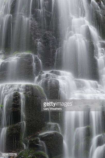 USA, Oregon, Fairy Falls, Close-up of rocky waterfall
