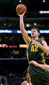Oregon freshman forward Adam Zahn during 7063 loss to Stanford in Pacific 10 Conference men's basketball tournament semifinal at the Staples Center...
