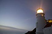 USA, Oregon, Heceta Head Lighthouse, dusk