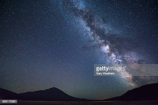 USA, Oregon, Mount Bachelor, Scenic view of night sky