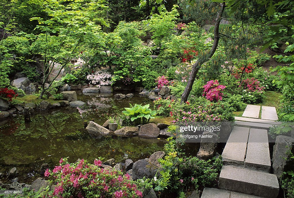 Japanese Garden Stone Bridge oregon, portland, japanese garden, natural garden, stone