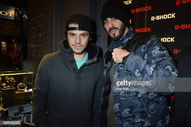 Orelsan and Gringe attend the 'GShock Store' Rue Sainte Croix De La Bretonnerie Opening Cocktail on December 12 2013 in Paris France