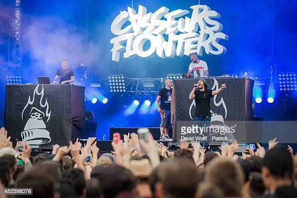 Orelsan from Casseurs Flowters performs at Fnac Live Festival on July 19 2014 in Paris France