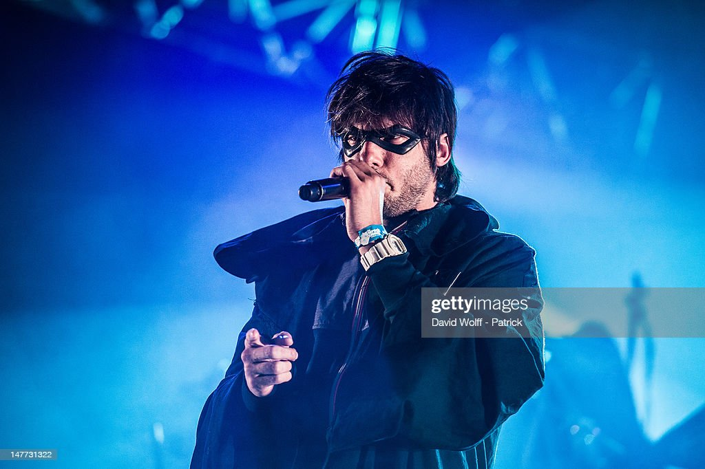 Orelsan performs at Eurockeennes Music Festival on July 1, 2012 in Belfort, France.