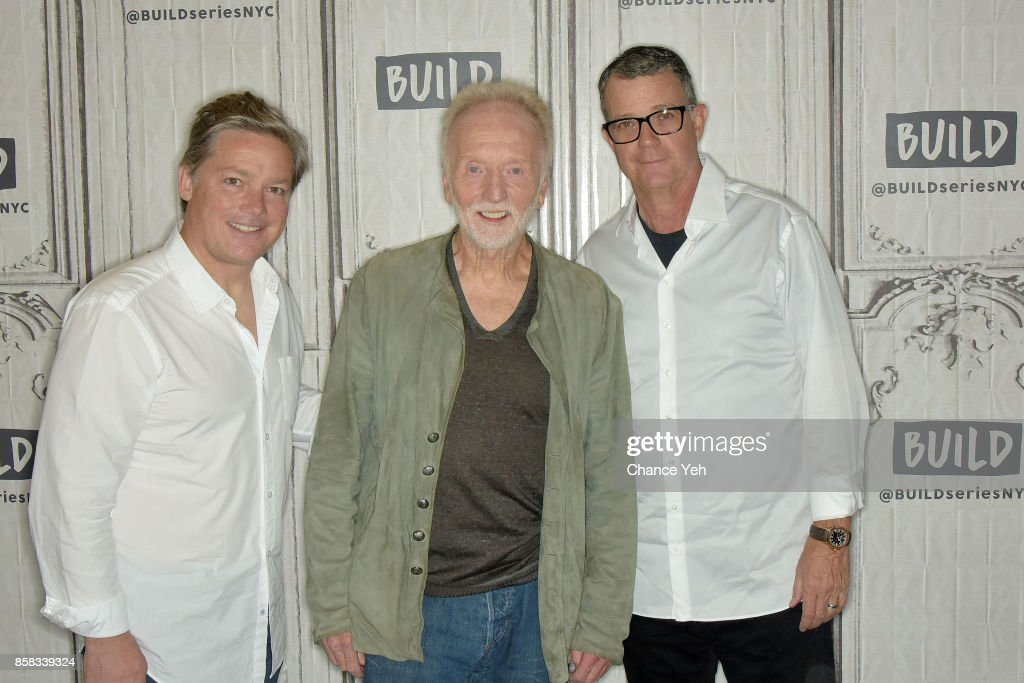 Oren Koules, Tobin Bell and Mark Burg attend Build series to discuss 'Jigsaw' at Build Studio on October 6, 2017 in New York City.