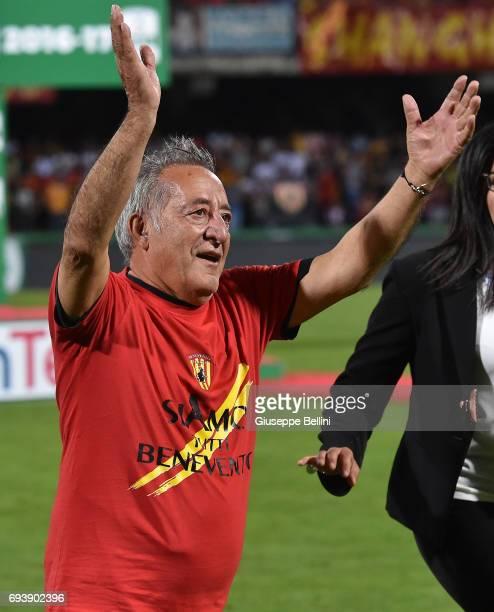 Oreste Vigorito President of Benevento Calcio celebrates the victory after the Serie B Play off Final match between Benevento Calcio and Carpi FC at...