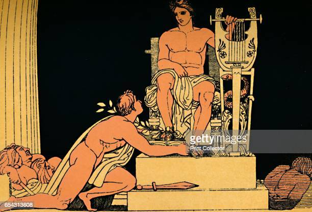 Orestes Suppliant to Apollo 1880 In Greek mythology Orestes was the son of Clytemnestra and Agamemnon who avenged the murder of his father by killing...