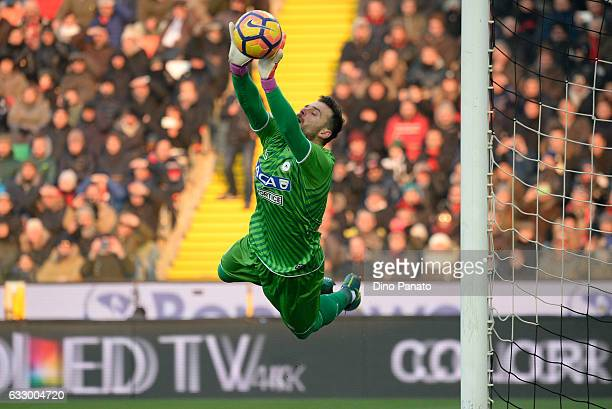 Orestis Karnezis goalkeeper of Udinese Calcio in action during the Serie A match between Udinese Calcio and AC Milan at Stadio Friuli on January 29...