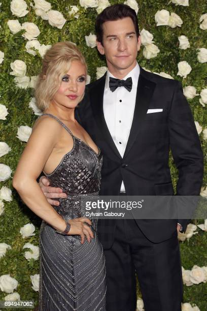 Orfeh and Andy Karl attend the 2017 Tony Awards at Radio City Music Hall on June 11 2017 in New York City
