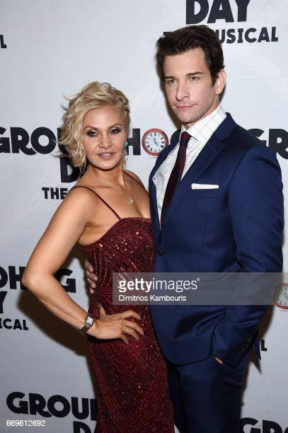 Orfeh and Andy Karl attend the 'Groundhog Day' Broadway Opening Night at Gotham Hall on April 17 2017 in New York City