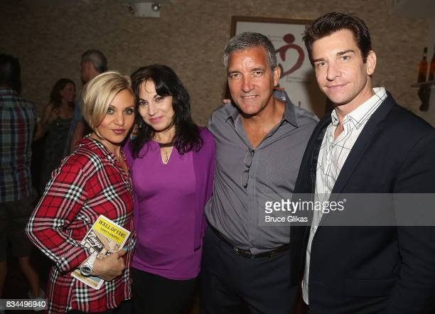 Orfeh Producers of Broadway Wall of Fame at Tony's di Napoli Valerie Smaldone Bruce Dimpflmaier and Andy Karl pose at the Broadway Wall of Fame...