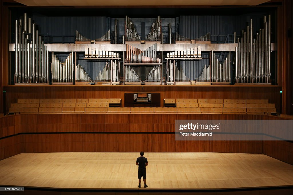 Organ builder Chris Varley looks up at the Royal Festival Hall organ at Southbank Centre on August 30, 2013 in London, England. Recently unveiled following its restoration and re-installation by organ builders Harrison & Harrison at a cost of £2.3 million raised through donations from 60,000 people and a grant from the Heritage Lottery Fund. The instrument, comprising 7,866 pipes, will now be voiced and balanced ahead of its re-inauguration at the Pull Out All The Stops organ festival, running from March 18, 2014 to June 7, 2014. The festival also marks the organs 60th anniversary since it was first played in May 1954.