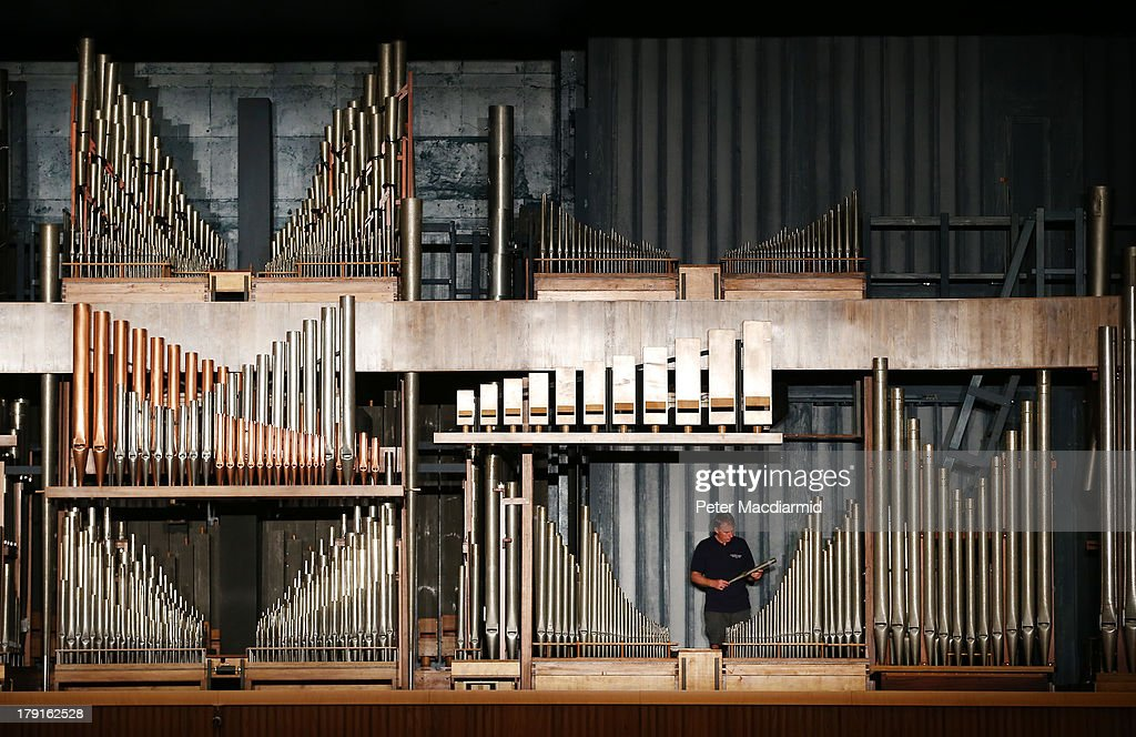 Organ builder John Oliver inspects a pipe at the Royal Festival Hall organ at Southbank Centre on August 30, 2013 in London, England. Recently unveiled following its restoration and re-installation by organ builders Harrison & Harrison at a cost of £2.3 million raised through donations from 60,000 people and a grant from the Heritage Lottery Fund. The instrument, comprising 7,866 pipes, will now be voiced and balanced ahead of its re-inauguration at the Pull Out All The Stops organ festival, running from March 18, 2014 to June 7, 2014. The festival also marks the organs 60th anniversary since it was first played in May 1954.
