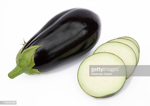 Organic aubergine ready to prepare and cook.