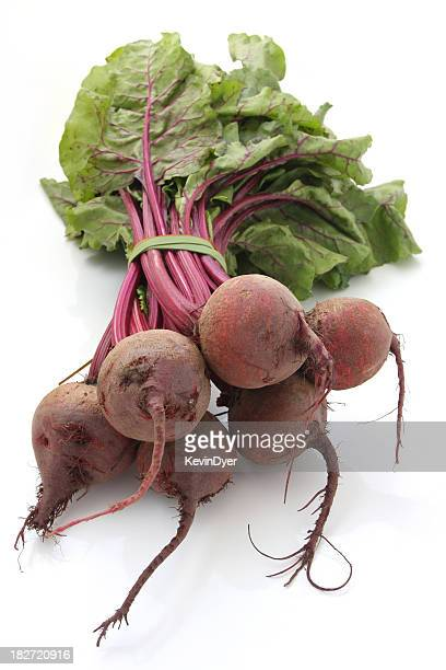 Organic Beetroot Isolated on White