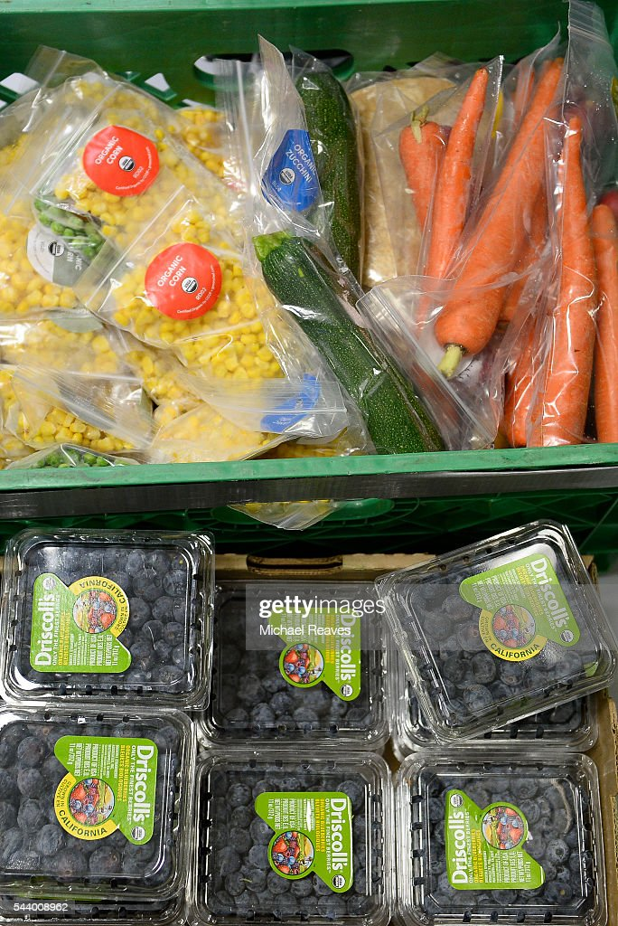 Organic food from We Don't Waste sits in There with Care on June 30, 2016.