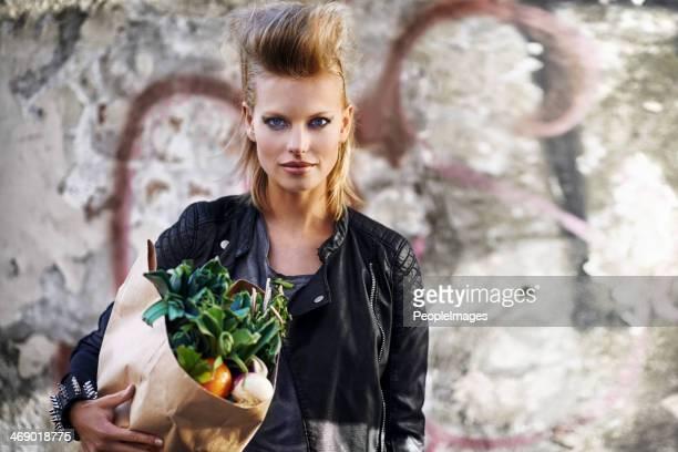 Organic food rocks!