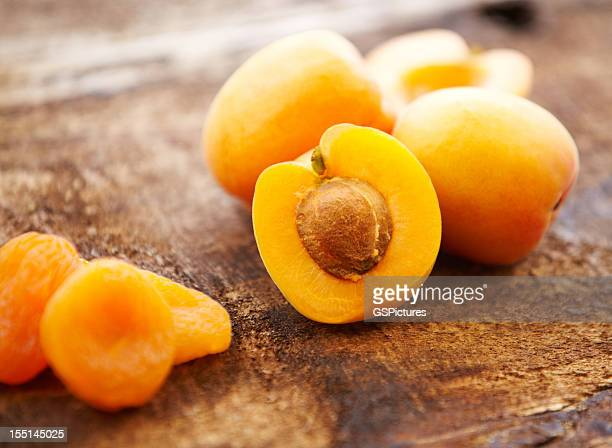 Organic fresh and dried apricots