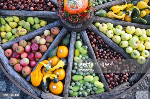 Organic fruits and vegetables : Stock Photo