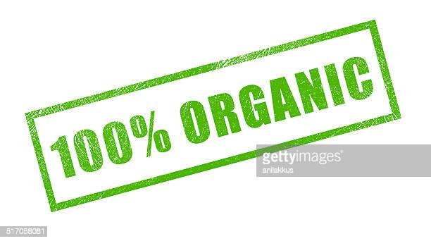 100% Organic Green Rubber Stamp