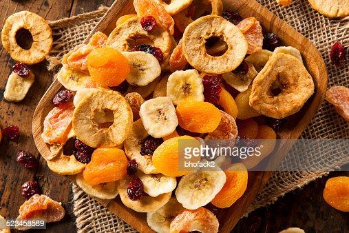 Orgánico saludable variedad de frutas secas : Foto de stock