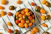 Organic Heirloom Cherry Tomatoes in a Bowl