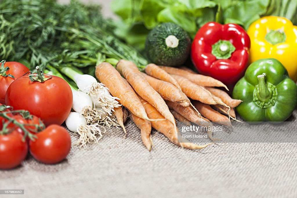 Organic mixed vegetables : Stock Photo