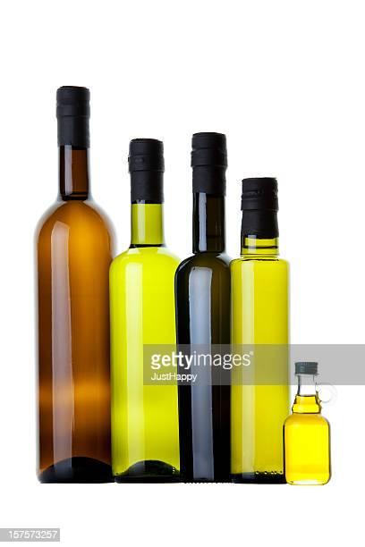 Bio et différentes bouteilles d'huile d'Olive