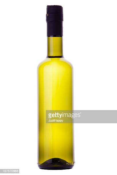 Organic Olive Oil or White Wine Bottle With Clipping Path