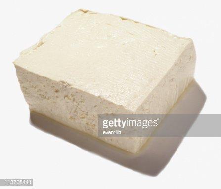 Organic Tofu Isolated on White