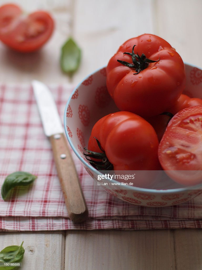 Organic tomatoes : Stock Photo