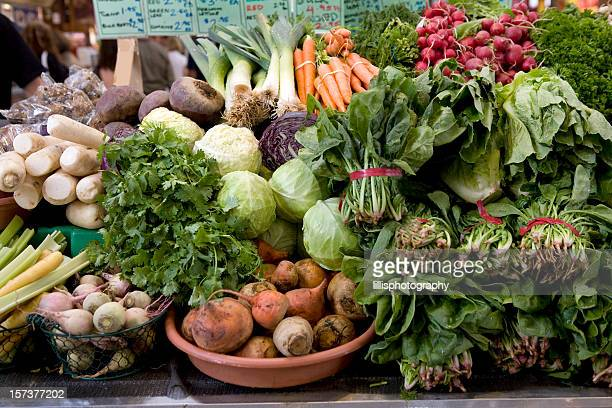 Organic Vegetables at Produce Market