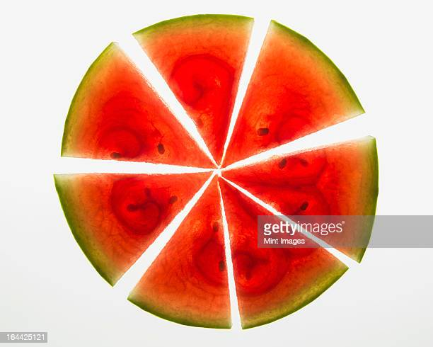 Organic watermelon slices