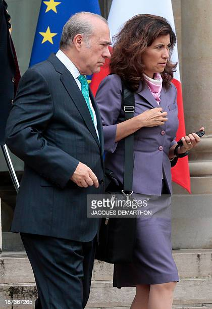 Organisation for Economic Cooperation and Development General Secretary Angel Gurria and OECD Chief of Staff and G20 Gabriel Ramos leave after a...