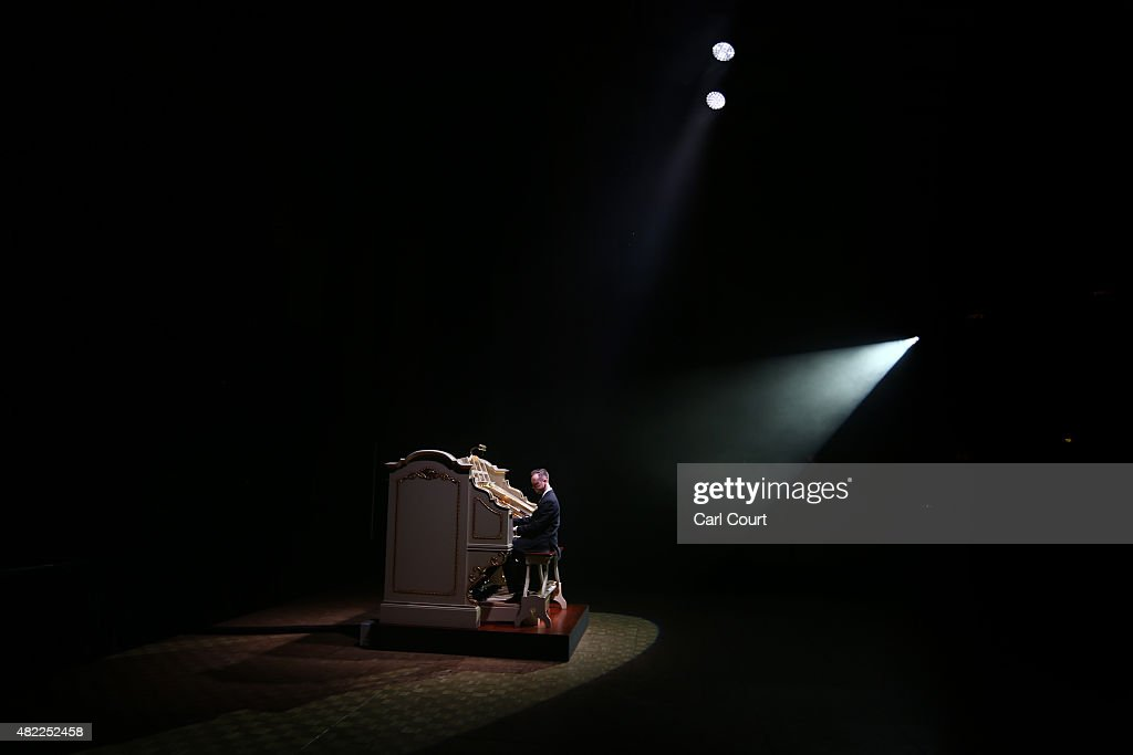 Organist Richard Hills plays Europe's largest Wurlitzer theatre pipe organ as it is unveiled after six years of restoration at the Troxy...